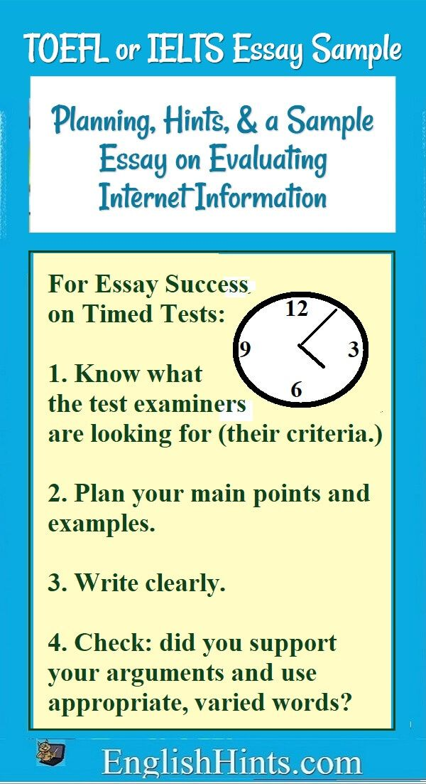 a toefl or ielts essay example and planning tips - Toefl Essay Example