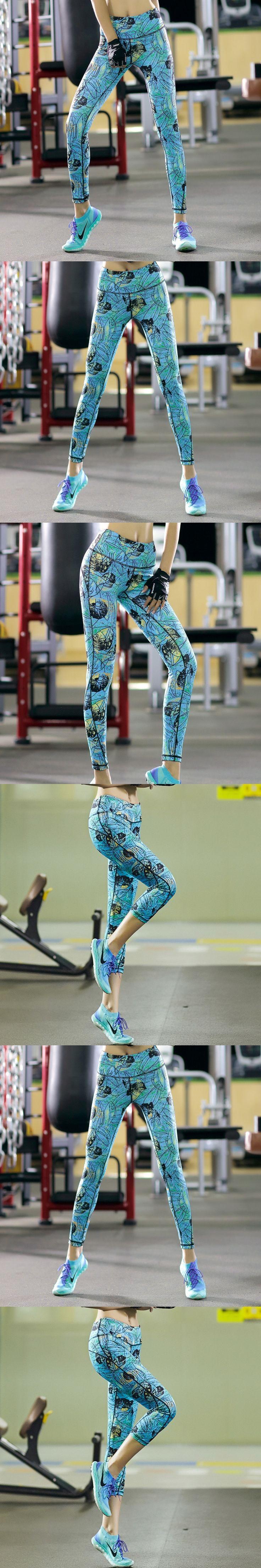 Sexy 3D Print Yoga Pants Seventh and Ninth Yoga Leggings Push Up Running Sport Tights Women Sportswear sportkleding Shop Online