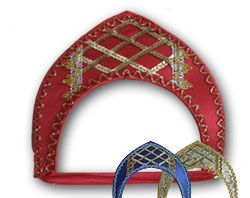 This is a #kokoshnik. its a russian headress, similar to a tiara