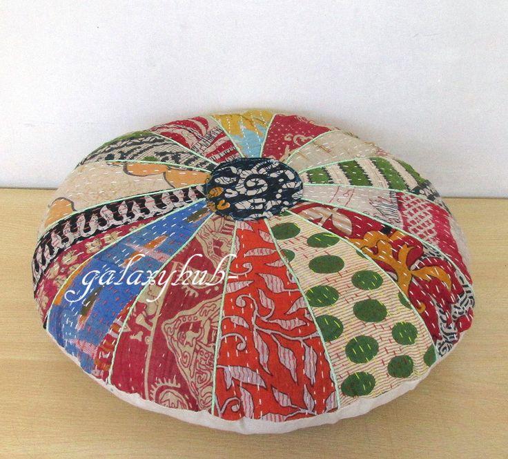 99 best Kantha Round Floor Pillow images on Pinterest | Pillowcases ...
