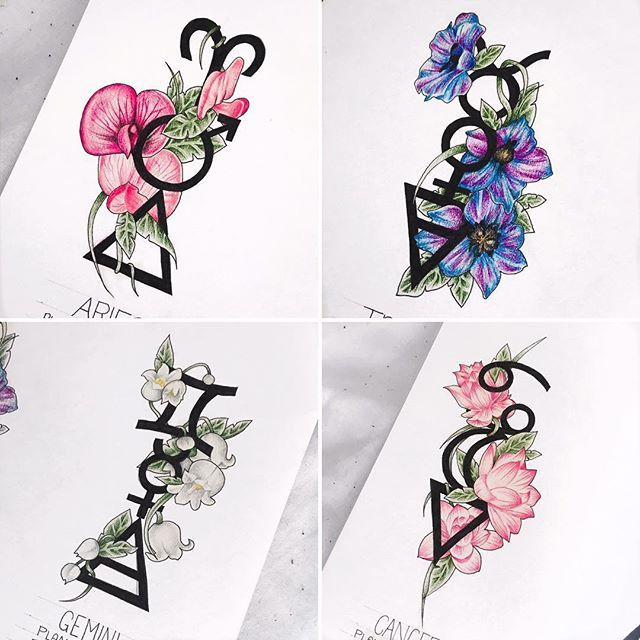 167 best images about tattoo ideas on pinterest bow for Flowers for aries woman