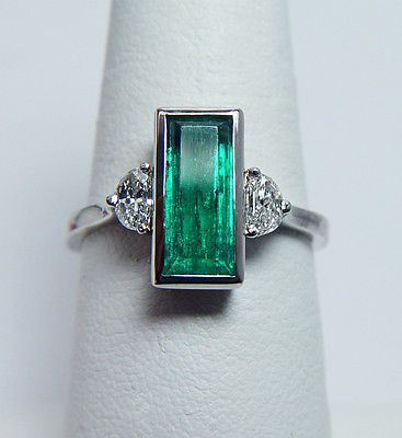 Art Deco Platinum, Emerald & Diamond Ring #jeweledup