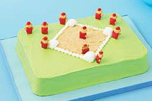 Baseball Diamond Cake