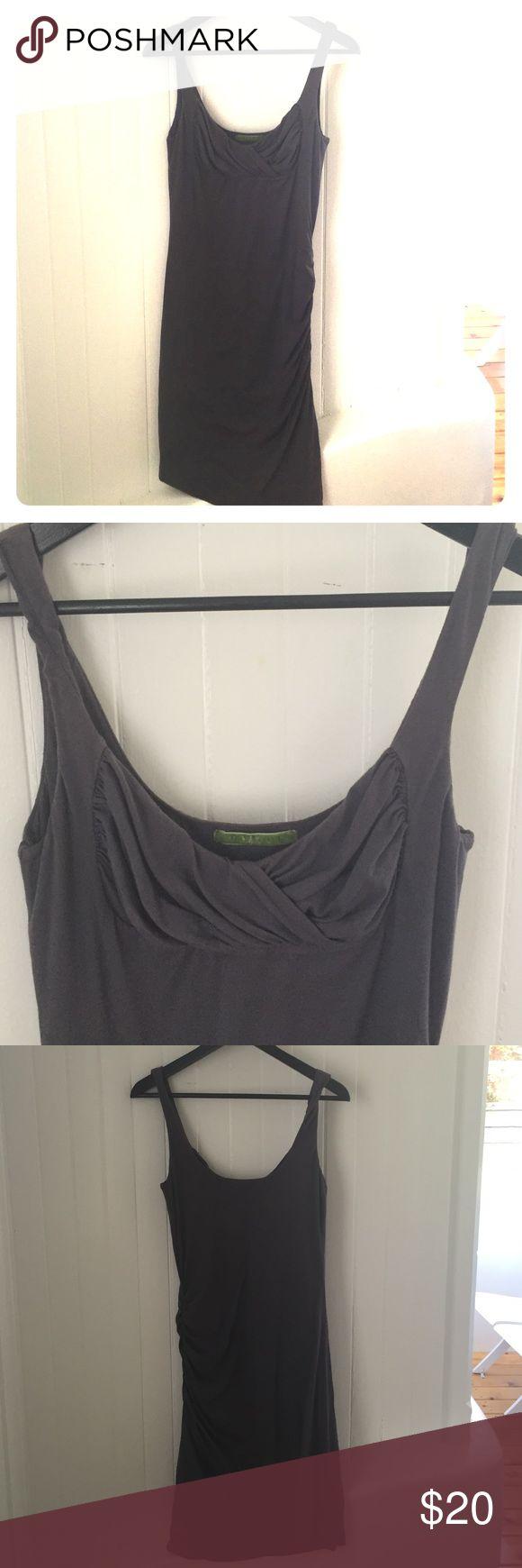 Velvet by graham & spencer dress Cotton Velvet by graham & spencer dress size medium. Slightly synched on the right side: dark grayish/purple Velvet Dresses Midi