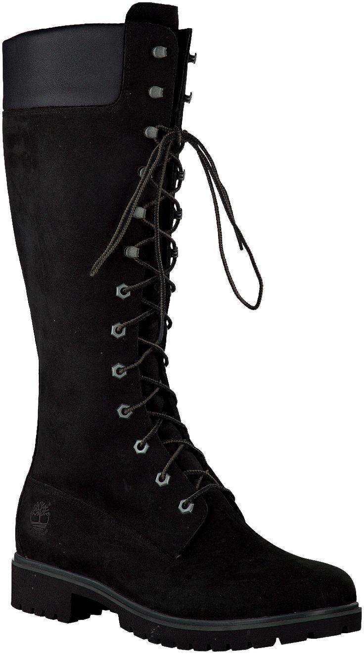 bottes noires timberland femme