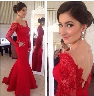 Red lace prom dress tumblr formal