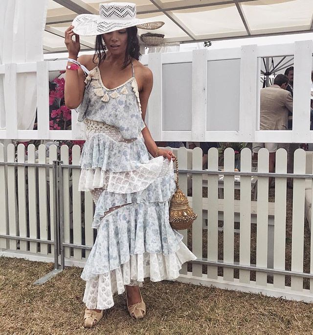 Chivy @chivyc_  is always styled to perfection and Portsea Polo 2018 was no exception!  Loved our collaboration!