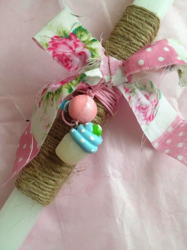 Sugarbaby Art . . . handmade easter candles - polymer clay cupcake