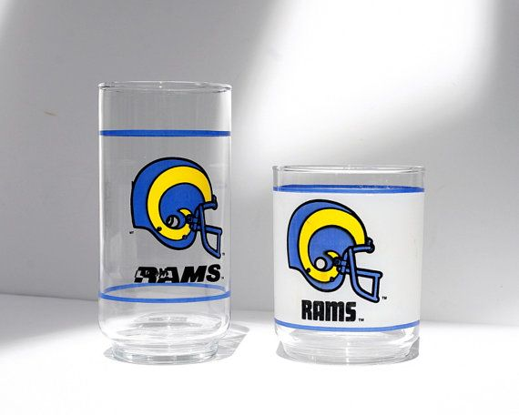 LA Rams Glasses NFL Los Angeles Rams by BlackDogVintageFinds