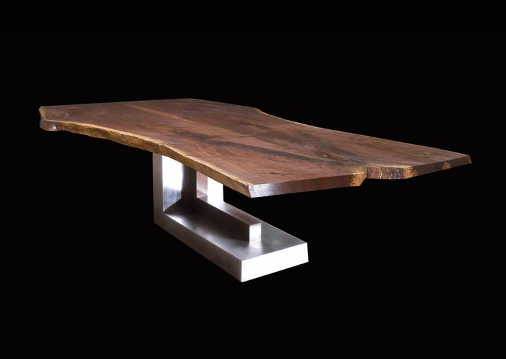 Live Edge Slab Dining Tables by Jeffrey Greene