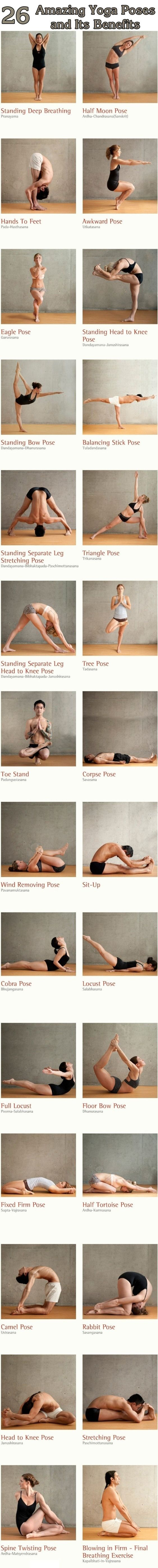 Yoga poses for wellness