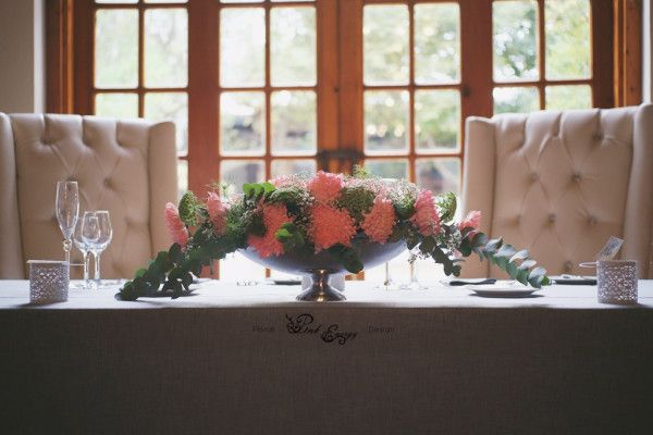 Kleinkaap - Sweetheart bridal table - Floral Design & Decor  by www.pinkenergyfloraldesign.co.za