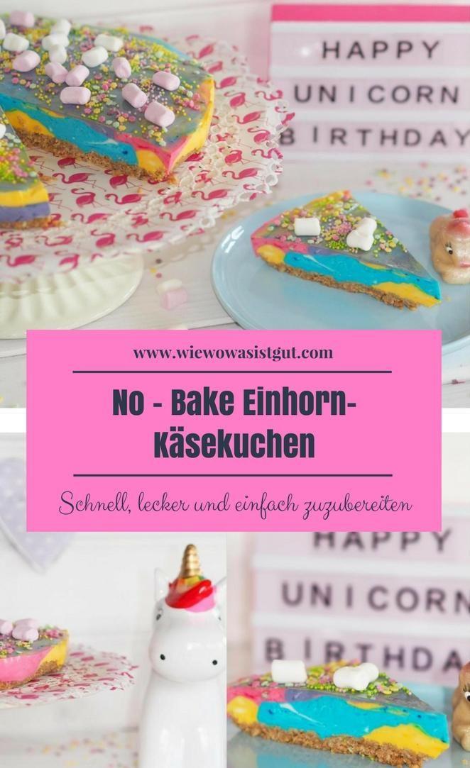 Kleinen Mädchen freuen sich besonders über so einen bunten Käsekuchen. Bunt, bunt, bunt. Das gute an diesem Einhorn - Cheescake ist, dass dieser nicht mal gebacken werden muss und in knapp 15-20 Minuten fertig ist. Der Renner auf jedem Kindergeburtstag. Mit oder ohne Thermomix ganz schnell gemixt. Ich lieben Einhörner.  #Einhorn #Kuchen #Käsekuchen #nobake-Werbung-