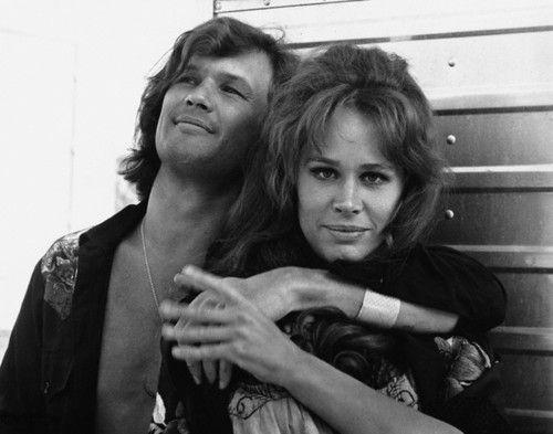 Kris Kristofferson and Karen Black on the set of 'Cisco Pike' in 1972. Photo by John Springer.