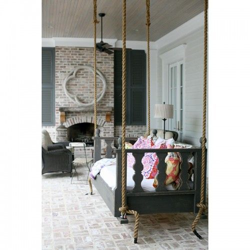 HammMade Victorian Hanging Swinging Daybed