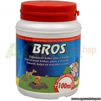 BROS ÁLLAT RIASZTÓ POR - B027 - 500 ml macska - kutya - vakond elriasztására - B027 - Kertészeti és borászati kellékek, kerti állókutak, falikutak nagy választékban.