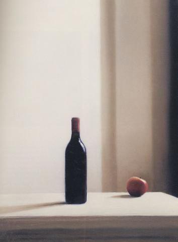 Gerhard Richter, Bouteille avec pomme, huile sur toile, 83 cm x 62 cm, 1988.  Catalogue Raisonné : 663-2