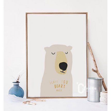 'I Love You Beary Much' Print