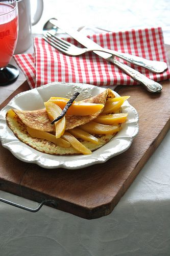 Mango, Crepes and Pancakes on Pinterest