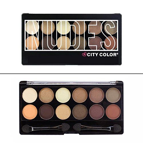 City Color Nudes Eyeshadow Palette w/ Brush & Mirror #E0027