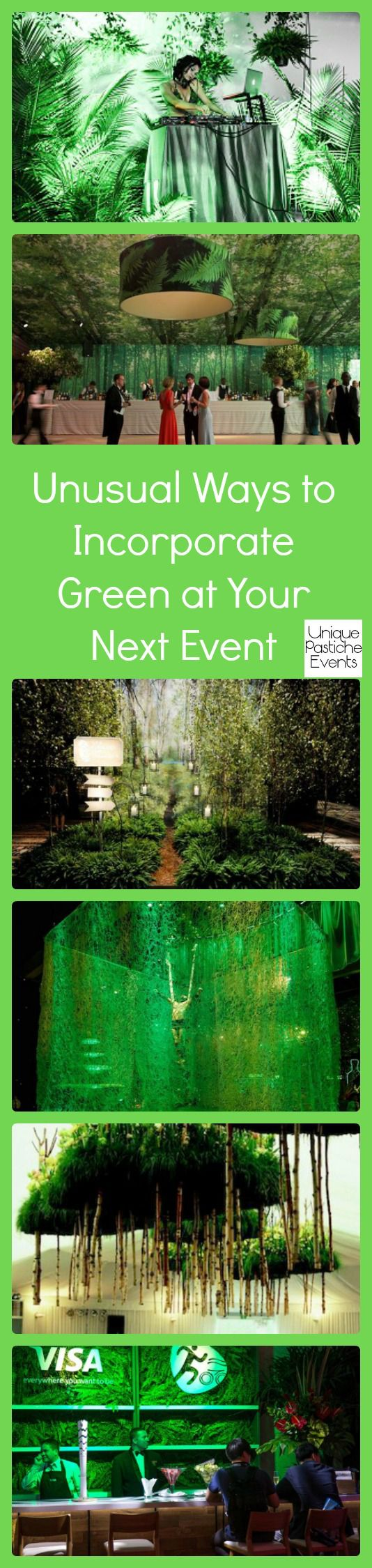 Unusual Ways to Incorporate Green at Your Next Event #IdeaBoard #InspirationBoard