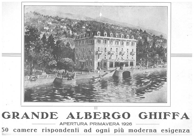 #lagomaggiorehotel #hotelghiffa first project 1900