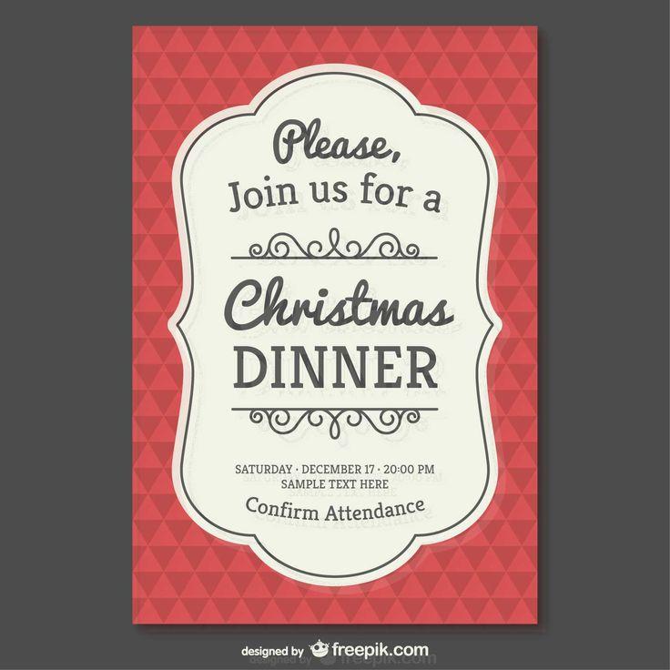 Vintage Christmas Invitation Template - FREE