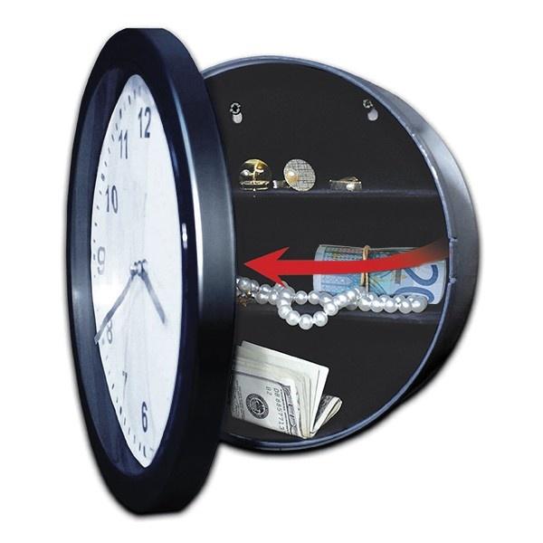 El reloj de pared con caja de seguridad escondida es un reloj con estilo y funcional por el espacio oculto que te servirá proteger tus cosas valiosas en el compartimento de detrás de la cara del reloj.