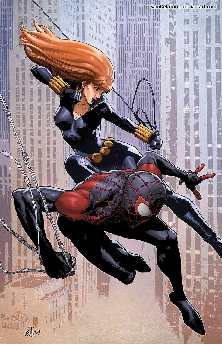Черная Вдова и Новый Человек-Паук