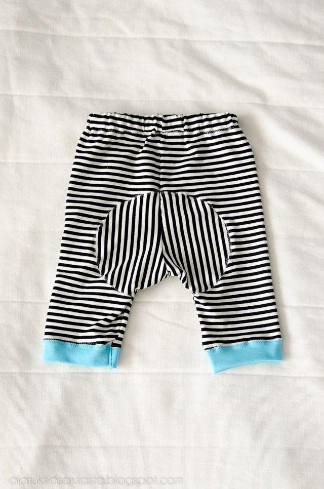 Summer pants for a toddler // http://ajatuksiasaksasta.blogspot.com