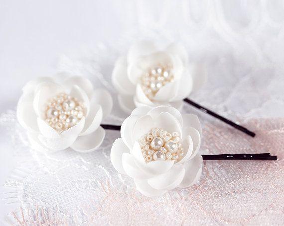 Cвадебные цветочные шпильки Свадебные заколки для волос от ArsiArt