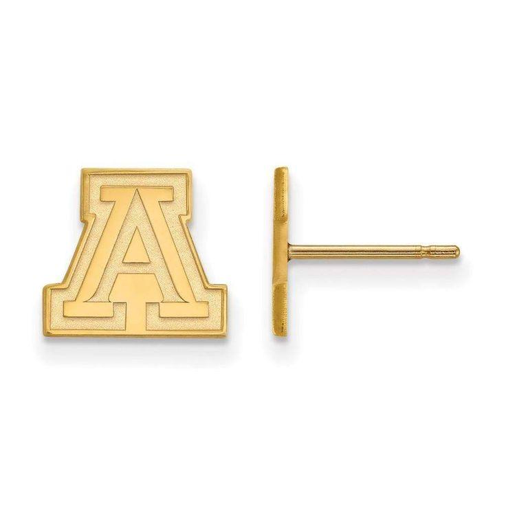14ky LogoArt University of Arizona XS Post Earrings