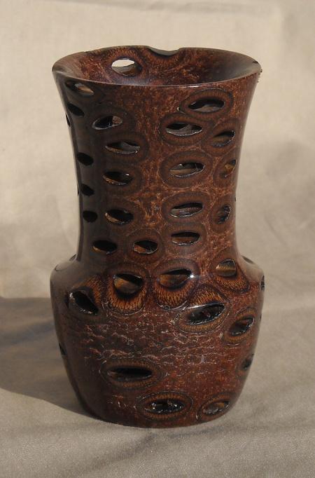 A lathe-turned vase by Anne Birkholz, Studio Tour Ten artist...: Wood Art, Wood Work, Wood Turning, Wood Treasure, Turning Wood, Woodturning, Birkholz Wood, Lathe Turning Vase, Wooden Art