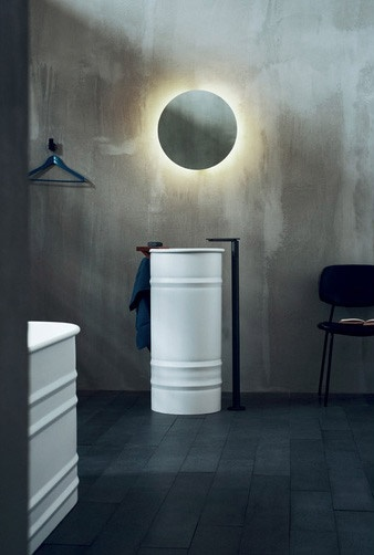 """washbasins   """"vieques""""   from agape   by patricia urquiola."""