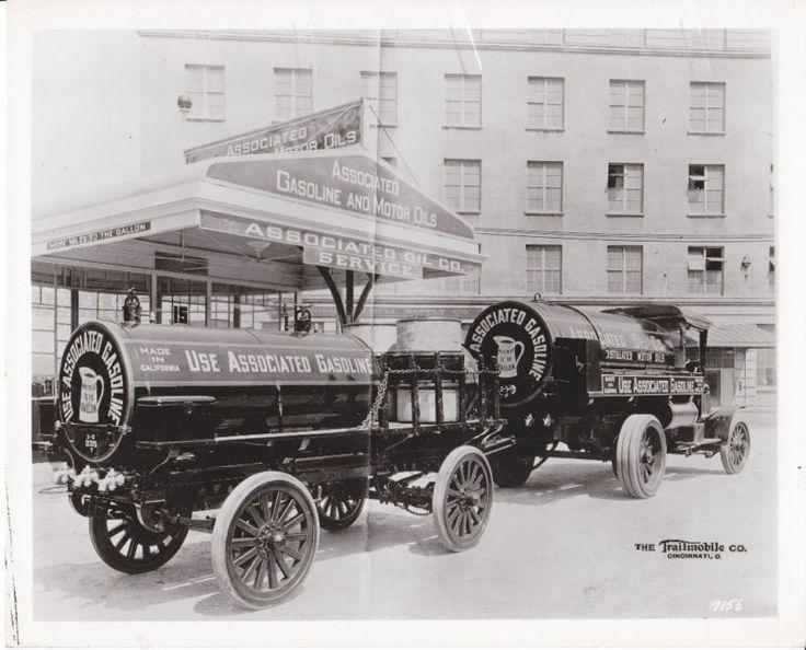1920 S Associated Oil Tank Trucks Vintage Trucks