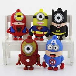 Online Shop Retail cartoon super hero minions Shape USB Flash Drive pen drive memory stick pendrive 2GB 4GB 8GB 16GB 32GB 64GB Free shipping|Aliexpress Mobile