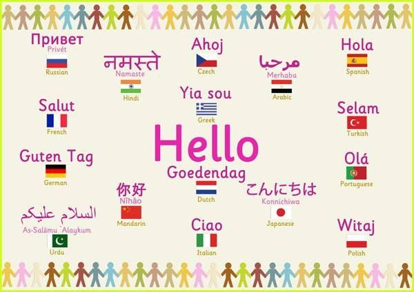 hi in different languages writing a book