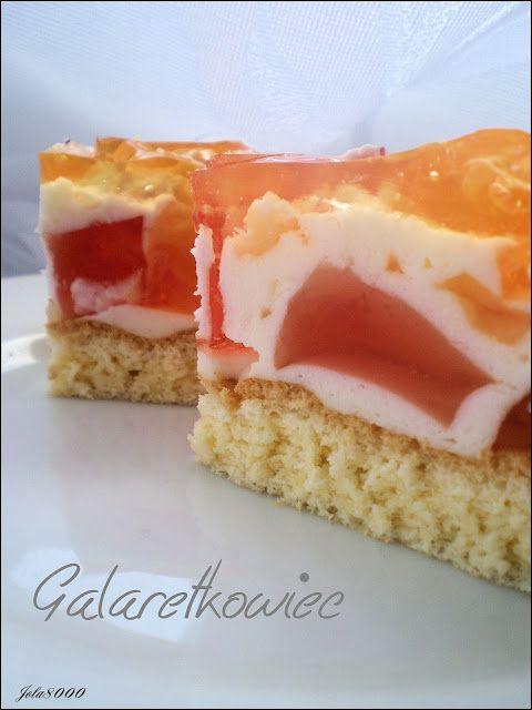 Ciasta, ciastka, ciasteczka.... Słodka chwila zapomnienia: Galaretkowiec - ptasie mleczko