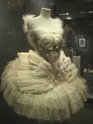 Anna Pavlova's swan costume.  Oh my gosh... <3 <3 <3