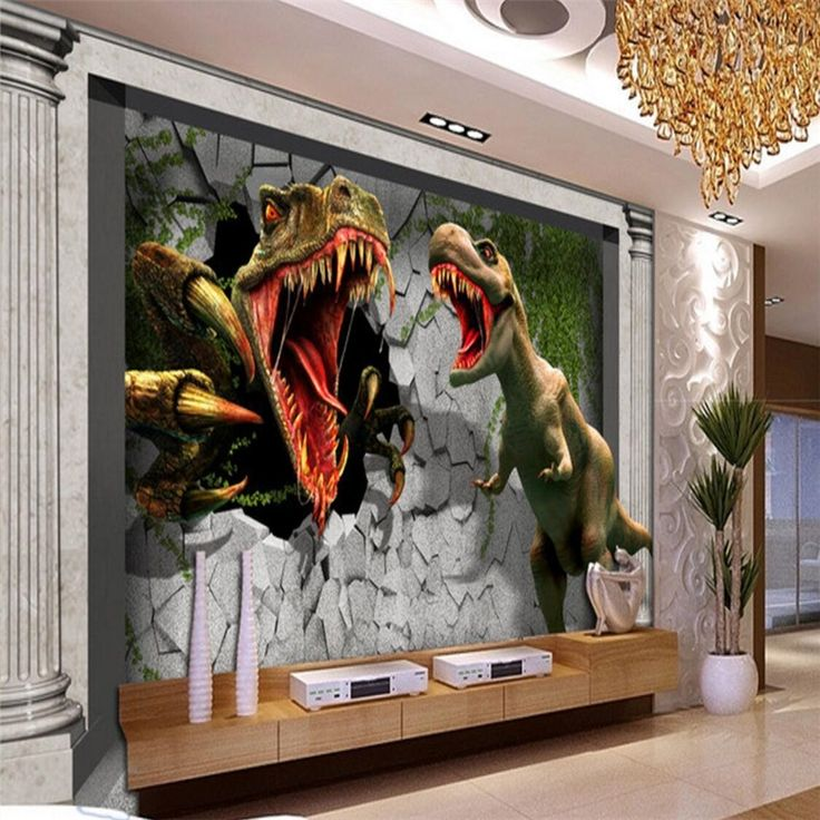 Best 25 dinosaurs tv ideas on pinterest for Dinosaur land wall mural