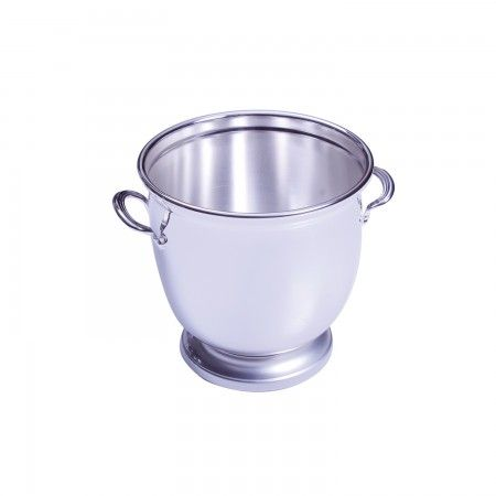 Traditional ice bucket in silver is the perfect bar accessory and housewarming gift.