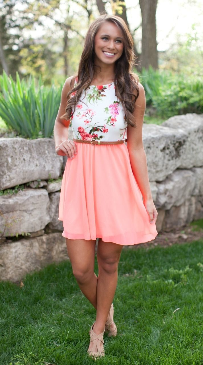 The Pink Lily Boutique - All For One Neon Floral Dress, $39.00 (http://thepinklilyboutique.com/all-for-one-neon-floral-dress/)