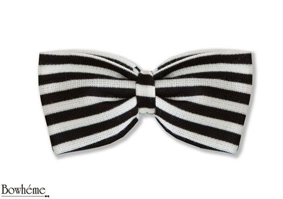 Striped Bow Tie Black .Father's day by Bowheme, $9.00