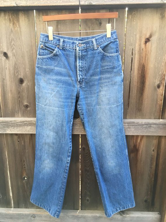 Vintage high waisted jeans 29 70s bohemian by twinflamesboutique