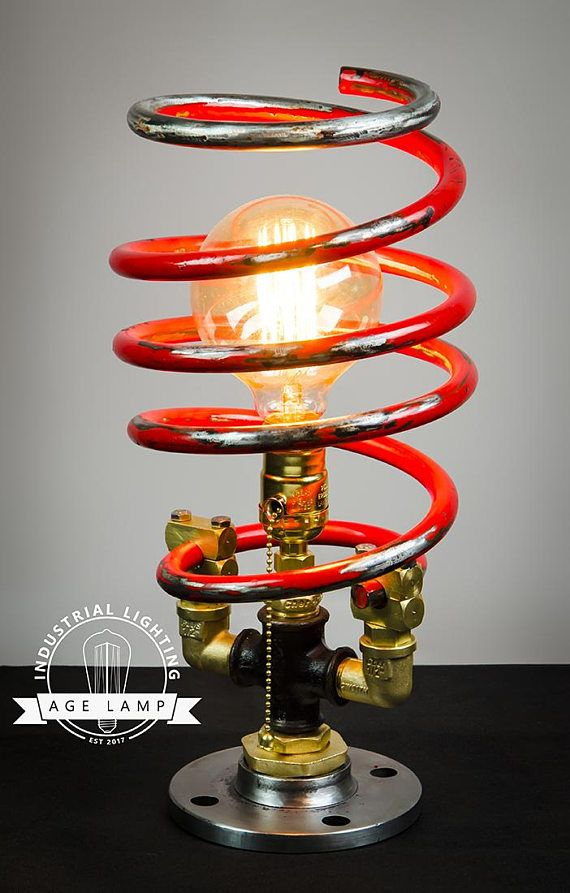This Steampunk Lamp Created From Automotive Parts Found By Me In