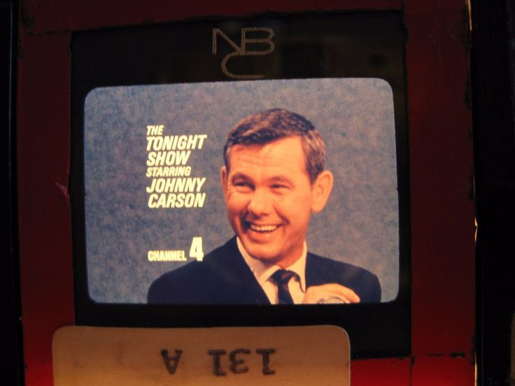 "Vintage JOHNNY CARSON ""Tonight Show"" NBC TV Late Night Entertainment Promo ORIG"