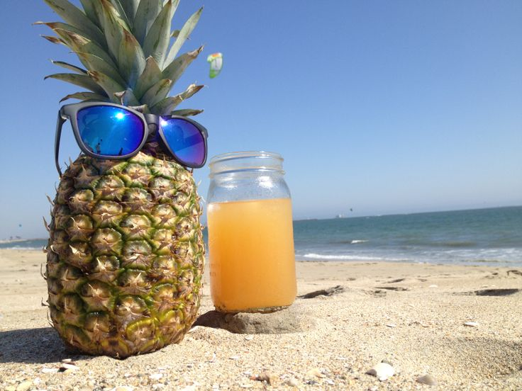 Pineapple At The Beach: This Is Just A Typical Day For Mr. Pineapple, Enjoying A