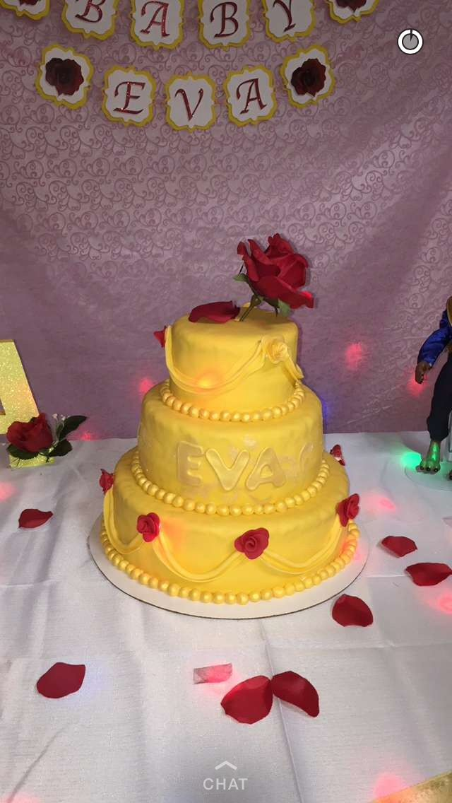 Beauty And The Beast Baby Shower Cake For My Eva