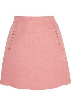 Valentino Linen mini skirt   NET-A-PORTER