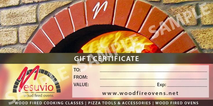 Vesuvio Gift Certificates THE PERFECT GIFT FOR THE FOODIE IN YOUR LIFE: Gift Vouchers for Cooking Classes, Wood Fired Ovens & Pizza Tools are Available Now.